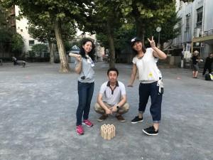 """社内スポーツ""""モルック"""""""